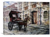 Red Carriage, Canvas Print