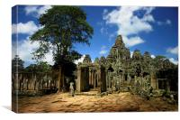 Bayon Temple View from the East, Canvas Print