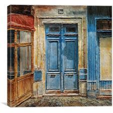 Parisian Door No.36, Canvas Print