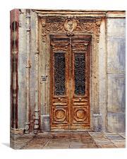 Parisian Door No. 7, Canvas Print