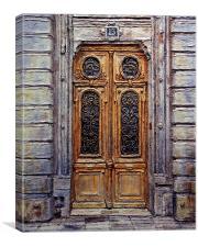 Parisian Door No. 15, Canvas Print