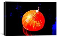 Chihully Orange Blown Glass, Canvas Print
