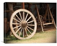 Old Wooden Wheel, Canvas Print