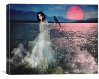 Misty Moonlight, Canvas Print