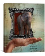 The Elephant in the Room, Canvas Print