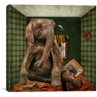 Elephant In The Room, Canvas Print