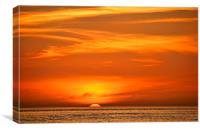 Honeymoon Island Sunset, Canvas Print