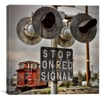 Stop on Red Signal, Canvas Print