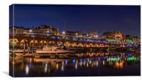 Ramsgate Marina At Night, Canvas Print