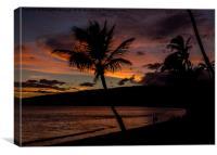 Maui Sunset, Canvas Print
