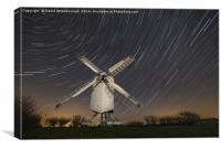 Moonlit Chillenden Windmill, Canvas Print