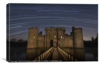 Bodiam Castle Star Trails, Canvas Print
