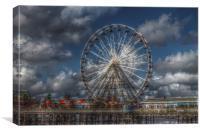 Blackpool Big Wheel HDR, Canvas Print
