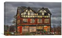 Abandoned House in Manchester, Canvas Print