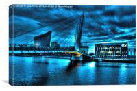 Media City Footbridge, Canvas Print