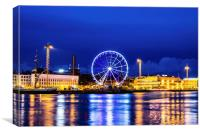 Helsinki South Harbour and Blue Hour, Canvas Print