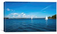 Helsinki Coast and Sailing Ships, Canvas Print