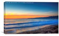 Scarborough South Bay at Dawn, Canvas Print