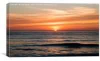Sunrise at North Sea, Canvas Print