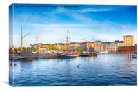 Pohjoissatama Harbour, Canvas Print