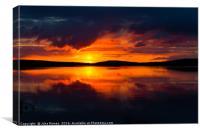 Lapland Sunset, Canvas Print