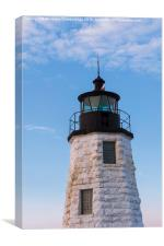 Goat Island lighthouse Newport , Canvas Print