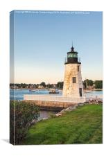 Goat Island light house., Canvas Print