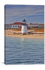 Brant Point Light Lighthouse, Nantucket, Massachus, Canvas Print