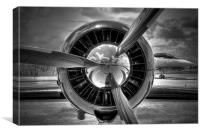 props and jet, Canvas Print