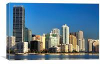 Miami skyline, Canvas Print