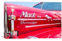 Mack B61 hood, Canvas Print