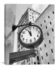 Street Clock, Canvas Print