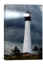 Key Biscayne Lighthouse, Canvas Print