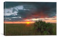 Chekili sunset, Canvas Print