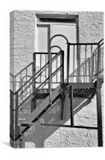escape in black and white, Canvas Print