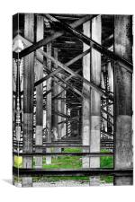 Steel support, Canvas Print