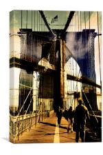 Brooklyn Bridge collage, Canvas Print