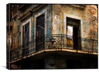 old balcony in Havana, Canvas Print