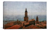 Menton rooftops, France, Canvas Print