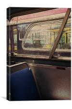 old bus interior, Canvas Print