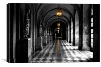 Corridors of Versailles, Canvas Print