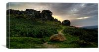 The Cow & Calf Rocks, Ilkley, Canvas Print