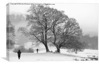 A Walk in the Snow, Canvas Print