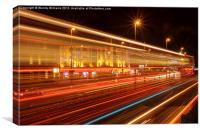 Blackpool by Night, Canvas Print