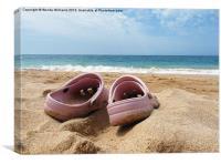Crocs on the beach, Canvas Print