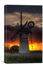 Thurne Mill Sunset, Canvas Print