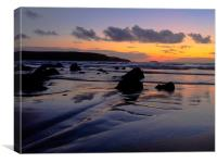 Broadhaven Sunset, Canvas Print