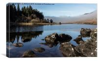 Low Clouds in Snowdonia, Canvas Print