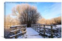 Snowy Nantwich, Canvas Print