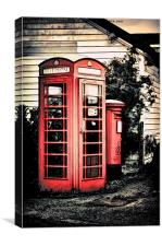 Post & Phone Boxes, Canvas Print